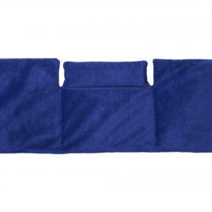 Traubenkernkissen Nacken, Schulter und Bauch in Blau